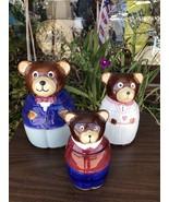 Three Bears Canister Set Goldilocks Story Flour Coffee Sugar Tea Ceramic... - $100.65
