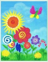 The Kids Room by Stupell Bright Butterfly and Flowers Rectangle Wall Plaque - $33.38
