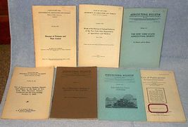 Vintage New York State Department of Agriculure Bulletins Lot of 7  - $10.00