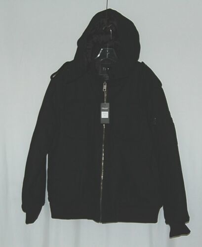 Trust Brand WB170J Wool Nylon L Black Coat Zippered Hooded