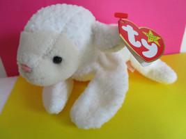 TY Beanie Baby Original FLEECE 1996 White Lamb PLUSH TOY - $4.59