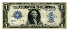 1923 ONE DOLLAR LARGE SIZE SILVER CERTIFICATE SPEELMAN WHITE EXTRA FINE ... - $67.00