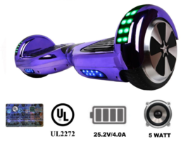 Chrome Purple LED Lights Bluetooth Speakers UL2272 Fast USA Shipping - $249.00