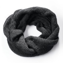 Simply Vera Vera Wang Cable-Knit Sequined Cowl Scarf, Black - $23.61 CAD