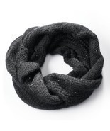 Simply Vera Vera Wang Cable-Knit Sequined Cowl Scarf, Black - ₨1,437.09 INR