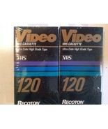 Recoton Vhs Tapes Lot 2 120 Video Cassette - $11.88