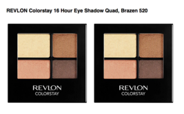 Revlon ColorStay Eye Shadow Quad Brazen 520 (Pack of 2)  - $19.99