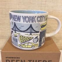 Starbucks New York City Coffee Mug Been There 5th Ave Subway Bridge Pizza - $37.39