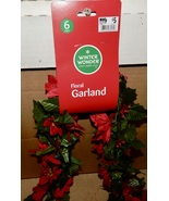 Christmas Garlands Many Types You Choose Pine Gold Tinsel Floral 10pk Ti... - $3.99