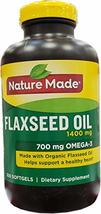 Nature Made Organic Flaxseed Oil 1,400 mg - Omega-3-6-9 for Heart Health - 300 C - $29.60