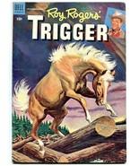 Roy Roger's Trigger #15 1955- Dell Golden Age Western FN- - $57.11