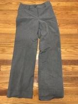 Women's Ann Taylor Loft Gray Dress Pants Size 0 Laura - $14.98