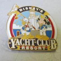 Disney Mickey Mouse & Donald Duck YACHT CLUB RESORT pinback trading pin - $19.99