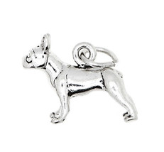 Sterling Silver Boston Terrier Dog Charm Or Pendant - $10.90