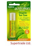 Optima Australian Tea Tree Organic Lip Balm SPF15 with Shea Butter - 5.7ml - $5.58