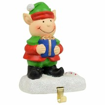 "Cement Christmas Stocking Holder 3.5"" X 5"" Elf  - $9.00"
