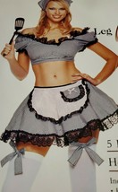 Leg Avenue Halloween Costume 5pc Naughty Housewife Outfit sexy fun new h... - $21.47