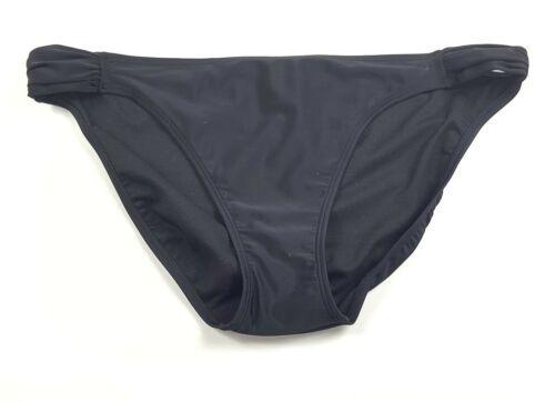 Xhilaration  Juniors Size XL Black Scrunched Sides Swimwear Bikini Bottoms NWT