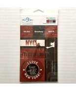 New York City Scrapbooking Embellishments Punch Out 7 Pieces NYC Cloud 9... - $1.98