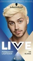 Schwarzkopf MEN Live Permanent LIGHTENER up to 4 shades ICE BLONDE Hair ... - $15.89