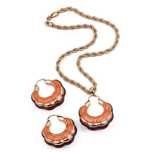Ethlyn Wave Round Hit Color Pendant Jewelry Sets For Women Nigerian/Afri... - $28.16