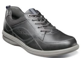 Nunn Bush Kore Walk Moc Toe Oxford Shoes Charcoal 84811-013 - $71.99
