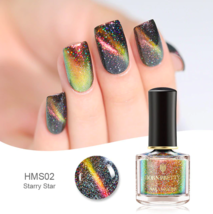 HOLOGRAPHIC 3D MAGNETIC SERIES Glitter Varnish Magnet Nail Art Lacquer image 8