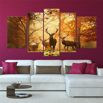 5 Panels Deers Picture Print On Canvas Home Dec... - $79.99 - $79.99