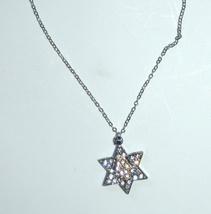 Magen David Hamsa Clear Crystals Silver Gold Rhodium Pendant & Necklace Kabbalah image 2