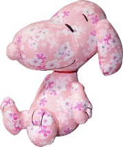 New! SNOOPY Plush Doll Stuffed Wagara Pink Japan Peanuts F/S - $56.09