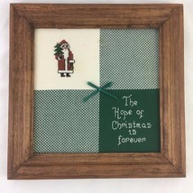 Completed Cross Stitch Sampler The Hope of Chri... - $9.46