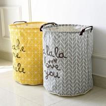 Laundry Clothes Dirty Barrel Basket Storage Folding Toy Waterproof Box O... - $15.88+