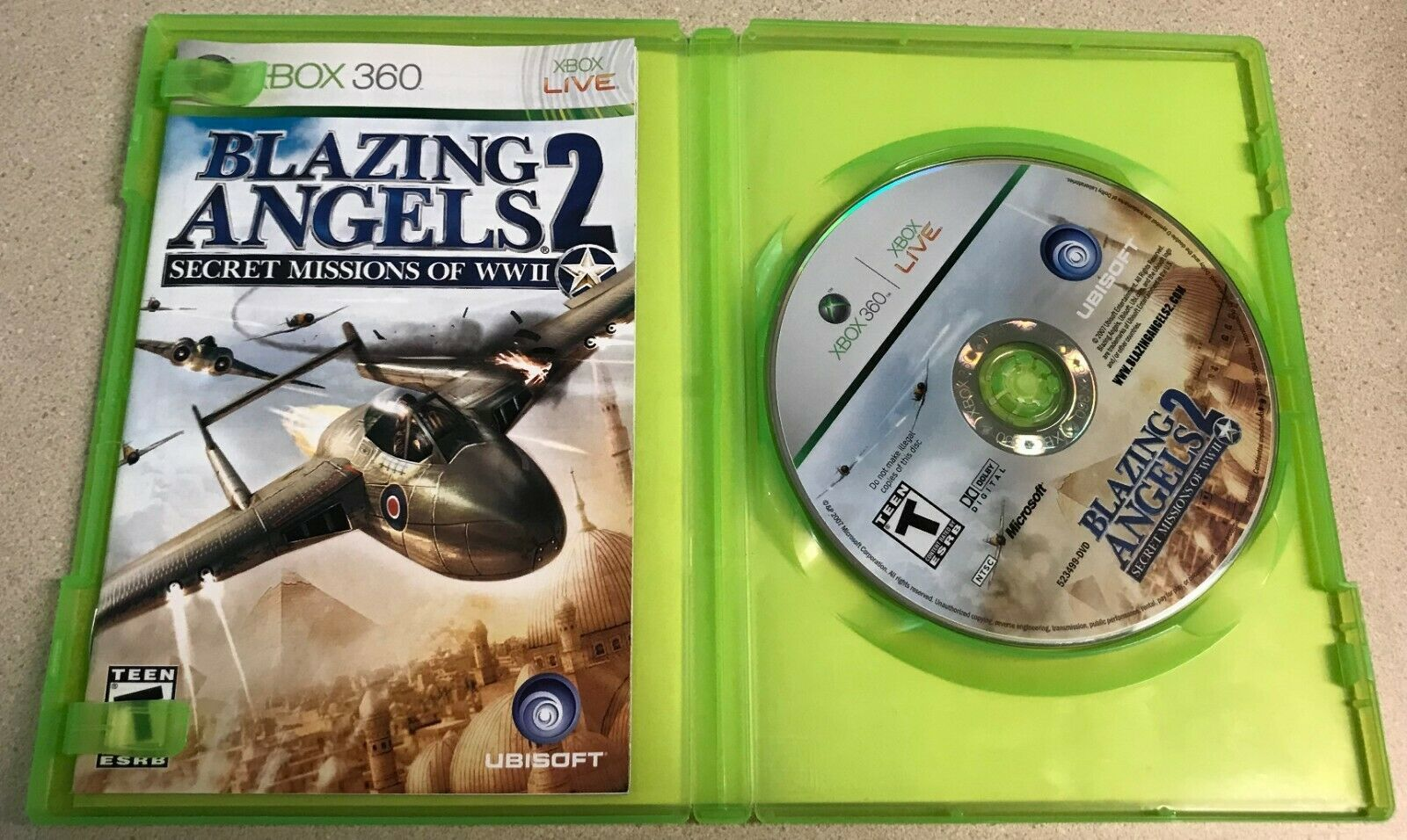 Blazing Angels 2: Secret Missions of WWII (Microsoft Xbox 360, 2007) Game image 3