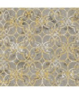 Winter White 2 Novelty Print By Robert Kaufman-BTY-Gray-White & Gold Hil... - $9.95