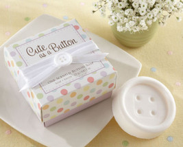 12 Cute as a Button Scented Button Soaps Baby Shower Favors - $25.84