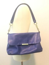 Liz Claiborne Purse Shoulder Handbag Saddle Bag Royal Blue - $17.56