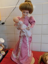 "Franklin Mint! Victorian Gibson Girl with Infant!  ""A Mother's Love"" - $46.39"