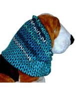 Blue Purple Turquoise Stripe Faux Sweater Knit Fleece Dog Snood Size Small  - $13.00