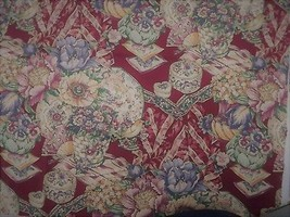 5th Avenue Feminine Victorian Chic Design Burgundy Pinks 2 Yards Upholstery - $24.74