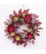 """ Autumn Fleshy Garland of Pine Cones Cotton Berries Decoration Home Dec... - $90.00"