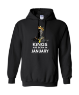 Black Panther Kings Are Born In January G185 Black Hoodie 8 oz - $32.50+