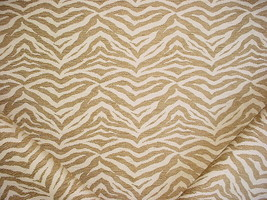 18Y PINDLER SOFT BROWN CREAM TIGER STRIPE JACQUARD UPHOLSTERY FABRIC - $320.76