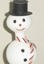 SNOWMAN - Vintage Glass Christmas Ornament - $12.00