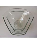 Set of 2 Matching Glass Hexagonal Serving Bowls NICE - $10.00