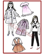 "Vintage Doll Clothing Pattern for 9 1/2"" Skipper ~ No. 6 - $5.99"