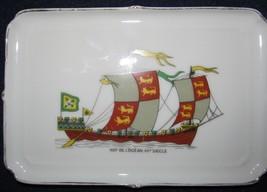 Porcelaine de Paris Limoges Dish - Nef De L'Ocean XII Siecle - $21.99