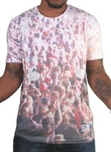 Bench Mens White Face the Bass Where is the Music Festival Concert Waldo T-Shirt image 1