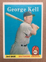 1958 Topps #40 George Kell Baseball Card Baltimore Orioles EX/EX+ RF1 - $24.99