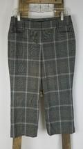Express Design Studio women 6 gray capri plaid dress pants - $18.76