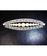 ANTIQUE BASRA PEARLS GENUINE DIAMONDS PLATINUM BROOCH - $15,647.00